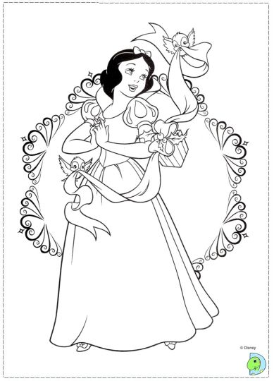 disney princess christmas coloring pages  part 4