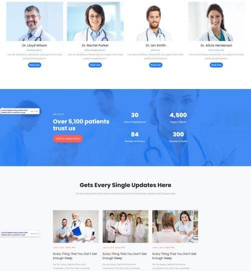 Mẫu web Y tế & Sức khỏe 06