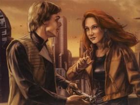 Luke and his wife-to-be, Mara Jade.