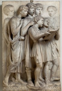 Luca della Robbia Italian, 1399/1400-1482 Boys Singing from a Book, 1431-1438 Marble From the Museo dell'Opera del Duomo, Florence
