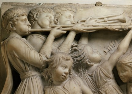 Luca della Robbia Italian, 1399/1400-1482 Trumpeters and Young Girls Dancing, 1431-1438 Marble From the Museo dell'Opera del Duomo, Florence Funding for the conservation and photography has been provided by the Friends of Florence.