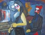 Opera play . Oil on canvas . 30 x 40 cm