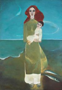 Maternity And The Sea- Oil on Canvas 190 x 130cm - AutionSold: 33,614 EUR