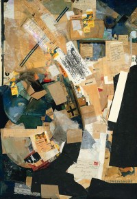 Picture of Spatial Growths - Picture with Two Small Dogs 1920-39 by Kurt Schwitters 1887-1948