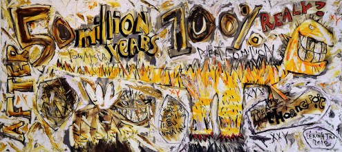 le-kinh-tai-where-will-we-be-going-to-in-5-million-years-50-million-years-100-million-years__2010_oil-oil-stick-on-canvas_150cm-x-330cm-copy