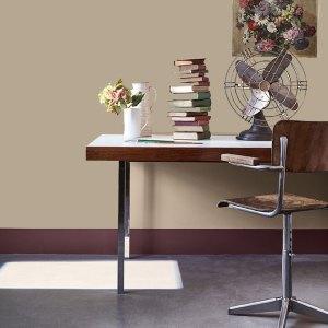 Little Greene Wandfarbe Tester True Taupe 240 Wand Farbe Office Büro Stuhl Wandbild