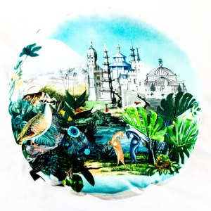 DDesigners Guild Kissen Reveries Vert Buis Schwarz-Weiss ekokissen Muster Tiere Blau Pflanzen