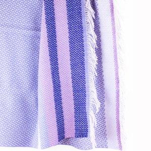 Designers Guild Decke Fortrose Lila Tagesdecke Wolldecke Decke Lila Fransen