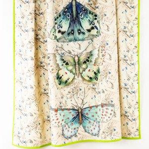 Designers Guild Decke Issoria Jade Grün-Blau Tagesdecke Decke Schmetterling Grün Beige