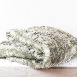 Nobilis Plaid Koala Grau Kunstfell Grau Felldecke Fell