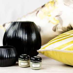 """Geschenk-Set """"GRACE"""" vase kissen teelicht farbtöpfchen"""