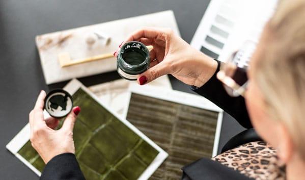 Materialcollage Interior Design Monika Winden Farben und Materialien Wandgestaltung Einrichtungsideen Inneneinrichtung planen