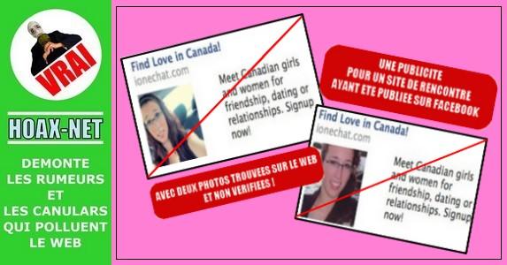 La photo  d'une jeune fille suicidée se retrouve dans une publicité pour un site de rencontre sur facebook  !
