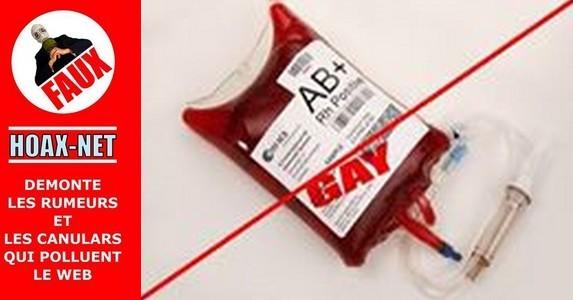NON, le sang des homos ne rend pas gay