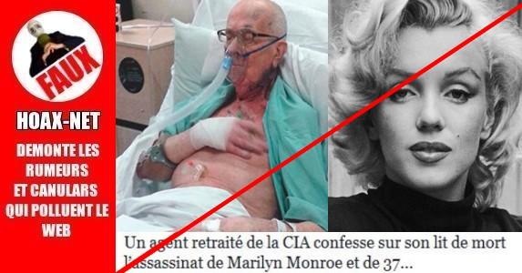 Un agent retraité de la CIA confesse sur son lit de mort l'assassinat de Marilyn Monroe.