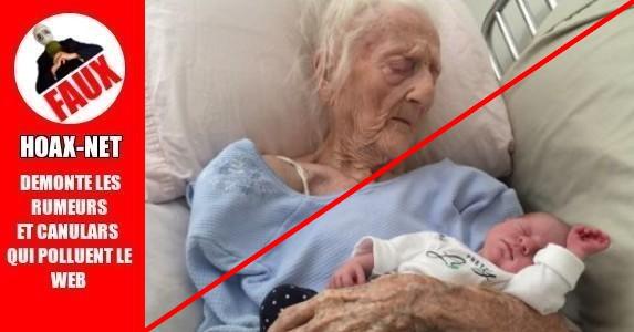 Elle met au monde son premier fils a l'âge de 101 ans.