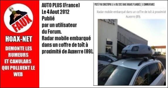 Les nouveaux radars Français