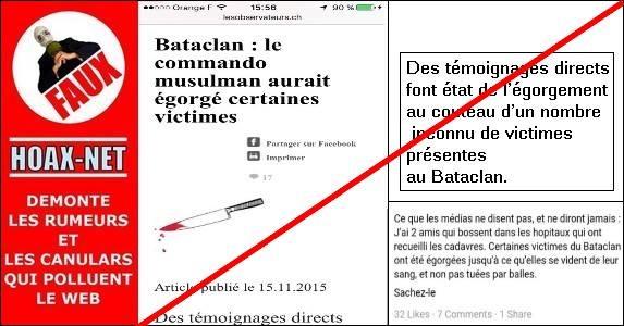 NON, LES VICTIMES DU BATACLAN N'ONT PAS ÉTÉ ÉGORGÉES