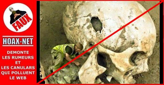 NON, un squelette de nephilim n'a pas été découvert