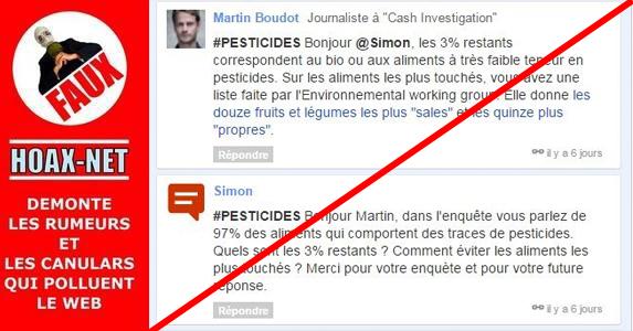 Cash Desinvestigation : chiffres faux sur les pesticides