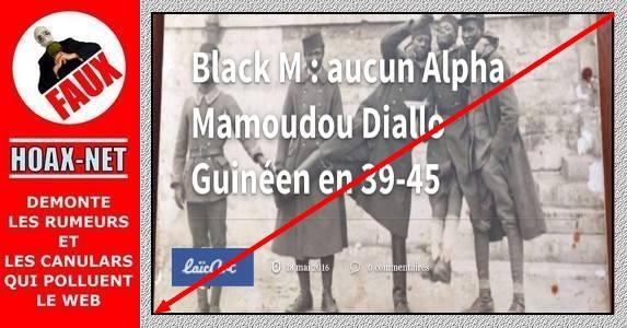 Le soldat Diallo, grand-père de Black M, a bien combattu en 39-45 !