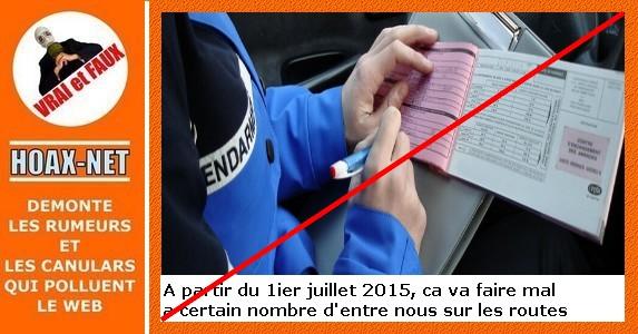 Changement sécurité routière a partir de juillet 2015, tout n'est pas FAUX !