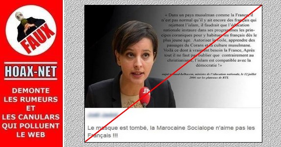 FAUSSE Citation de  Najat Vallaud-Belkacem