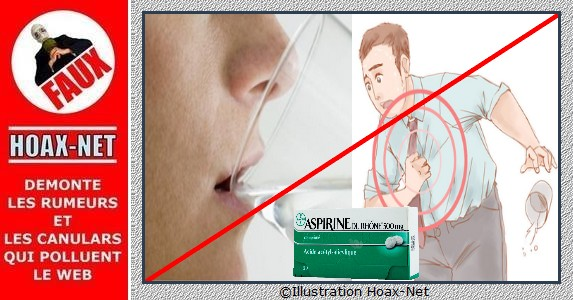 Les fausses recommandations concernant l'eau potable et l'aspirine.