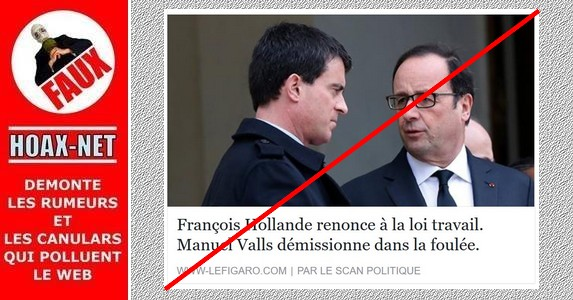 Non, ce n'est pas le site officiel du Figaro qui diffuse cette info !