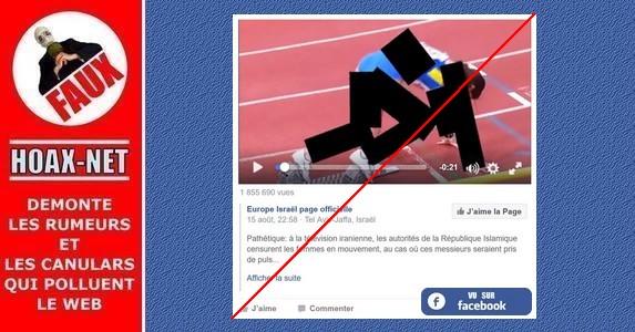 Non, ceci n'est pas une vidéo de médias iraniens qui censurent les femmes aux JO.