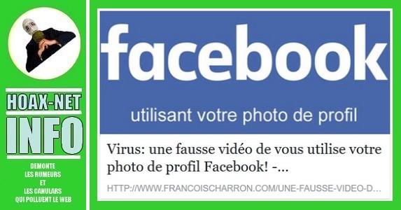 Virus: une fausse vidéo de vous utilise votre photo de profil Facebook!