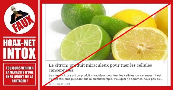 Non, le citron ne va pas vous guérir du cancer.