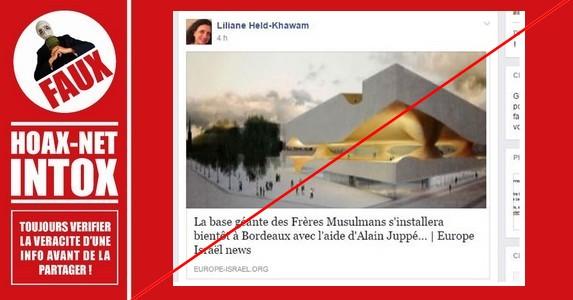 NON les frères musulmans n'auront pas de «base géante» à Bordeaux