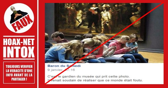 Non, ces ados ne sont pas inintéressés devant la peinture la plus célèbre de Rembrandt.