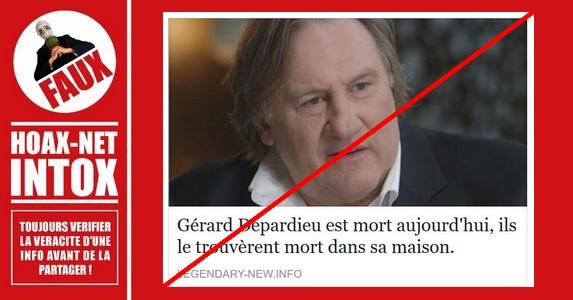NON, Gérard Depardieu n'a pas été trouvé mort