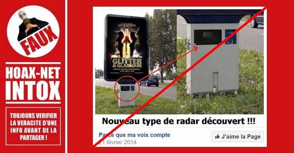 Non, ce n'est pas un nouveau radar, ni Français, ni Belge, ni entre 2014 et 2017.