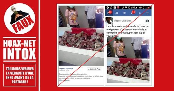 NON, un restaurant chinois de la ville de Douala ne conserve pas des fœtus dans son réfrigérateur