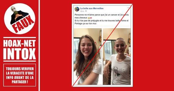 Non, cette jeune femme n'a pas le cancer