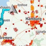 Kart med trafikk