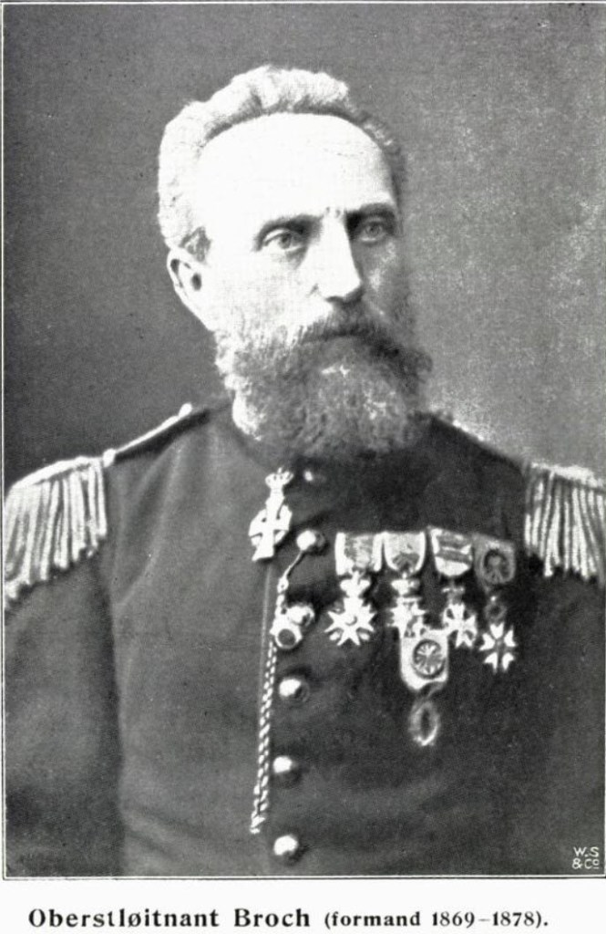 Oberstløitnant Broch, formand Centralforeningen for utbredelse av idræt 1869-1878