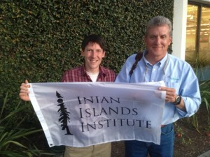 Meeting with Inian Islands Institute advisory council member Mike Sutton in Palo Alto.