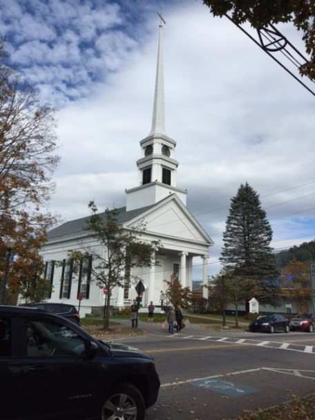 Historic church in Stowe Villiage