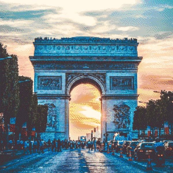 MyHobby borduurpakket - Arc de Triomphe Parijs