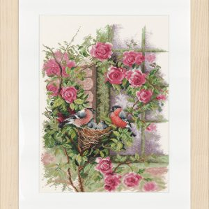 Lanarte Borduurpakket - Vogelnestje met roodborstjes