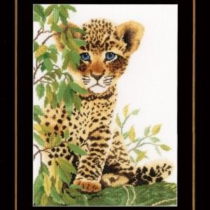 Lanarte Borduurpakket - Panterwelp / luipaardwelp