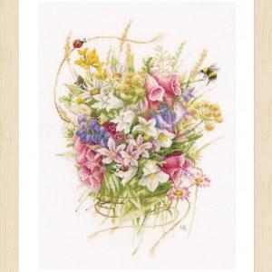 Lanarte Borduurpakket - Boeket zomerbloempjes