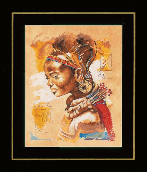Lanarte Borduurpakket - Afrikaanse vrouw