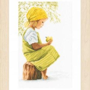 Lanarte Borduurpakket - Meisje met appel