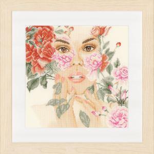 Lanarte Borduurpakket - Bloemengezicht