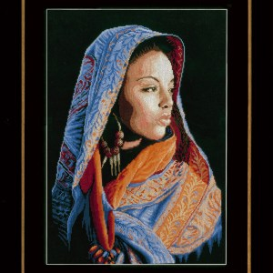 Lanarte Borduurpakket - Afrikaanse dame